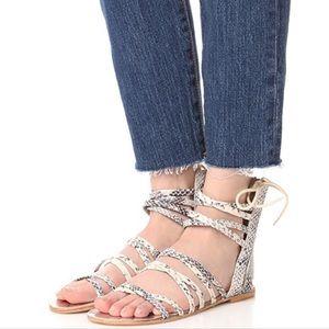 Free People Juliette Snake Print Gladiator Sandals